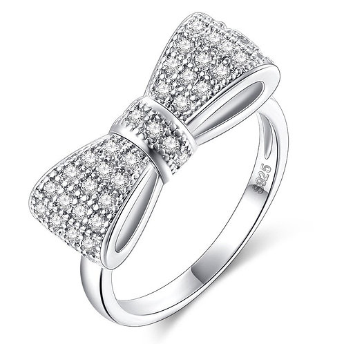 Classic Sparkle Bow Ring