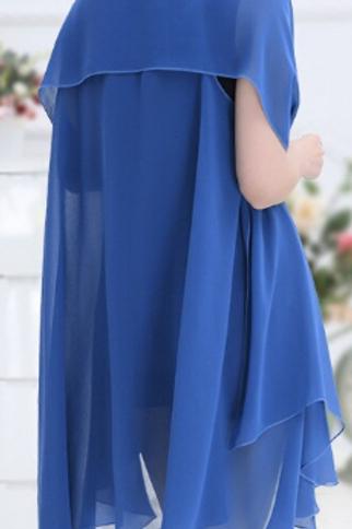 Sapphire Blue Scarf Vest