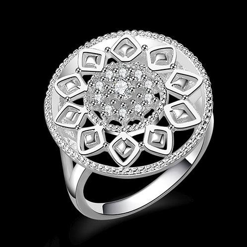 Crystal Sunflower Ring