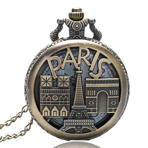 Paris Buildings Large Pocket Watch