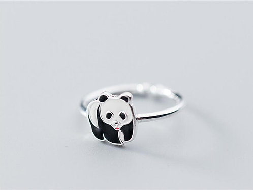 Panda Bear Adjustable Ring