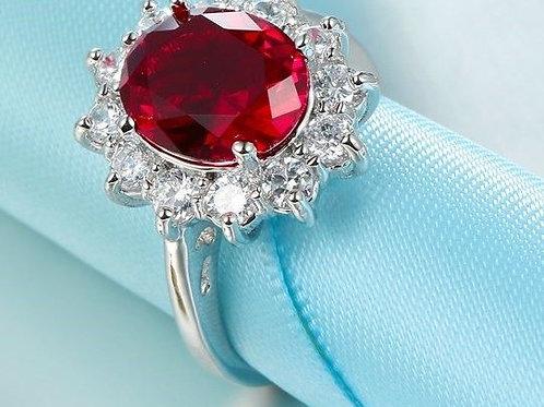 Red Princess Diana Ring