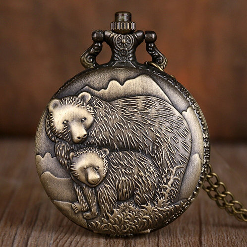 Mom & Baby Large Pocket Watch