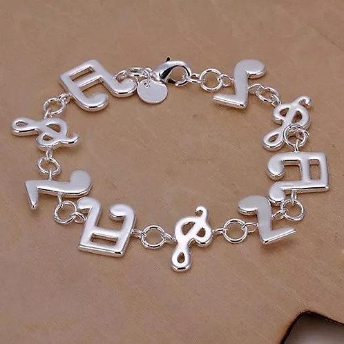 Music Silver Bracelet
