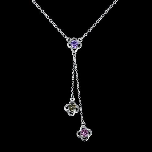 Drop Flowers Long Necklace