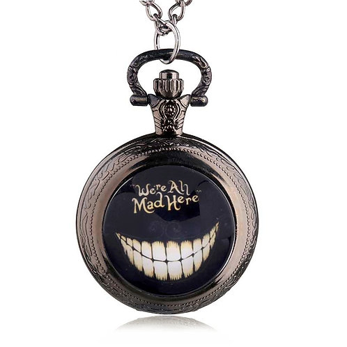 We're All Mad Here Small Pocket Watch