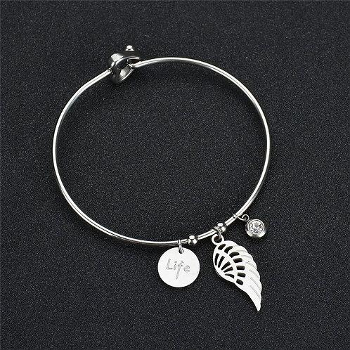 Life Bangle Charm Bracelet