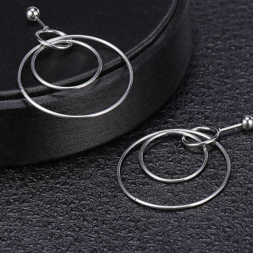 Double Ring Ball Back Stainless Steel