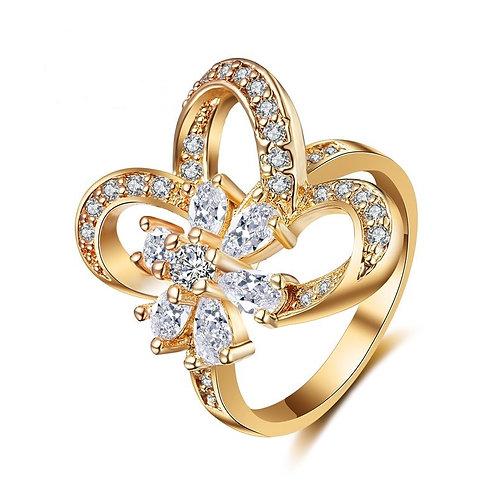 Flower & 3 Petals Ring