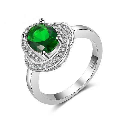 May Emerald Swirl Ring