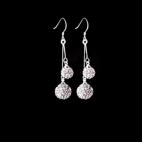 Double Sparkle Ball Earrings