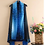 Thumbnail: Flower Power - Sapphire Blue and Purple Ombre and Black Scarf Vest