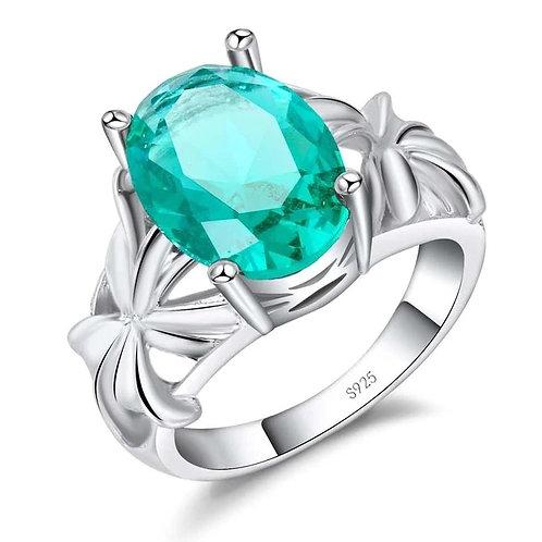 Aqua Lilies Ring