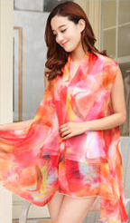 Orange Abstract Pattern Scarf Vest.PNG
