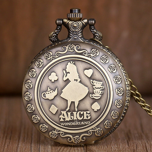 """Alice in Wonderland"" Large Pocket Watch"