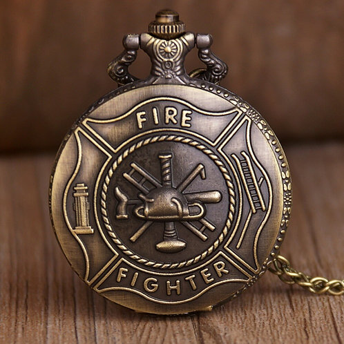 Fire Fighter Large Pocket Watch