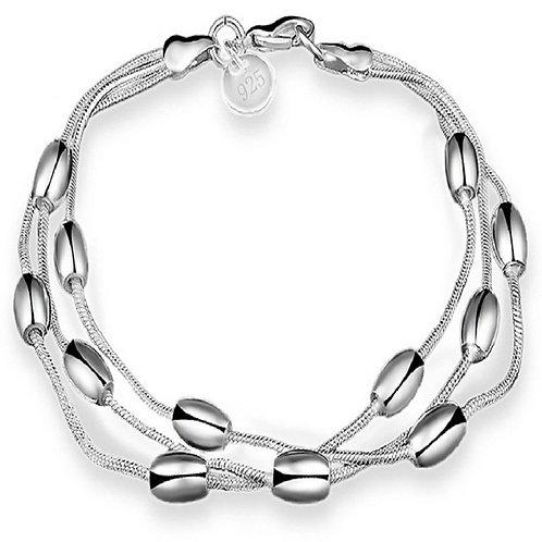 Oblong Beads Bracelet