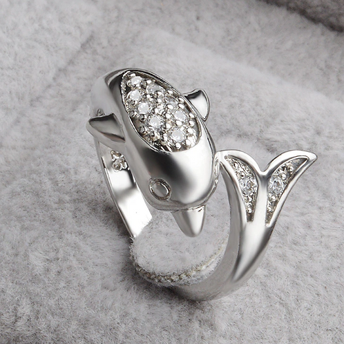 Diving Dolphin Ring