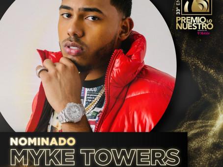 MYKE TOWERS EL ARTISTA MÁS ADMIRADO DEL GÉNERO,RECIBE CUATRO NOMINACIONES A PREMIOS LO NUESTRO 2021