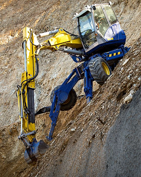 Spider Excavator in Action