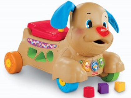 Fisher-Price 互動學習兩用學行玩具狗 (可坐或推)