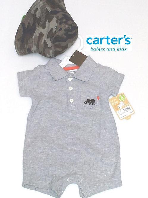 Carter's 嬰兒兩件套裝連帽 (啪鈕式換片設計)