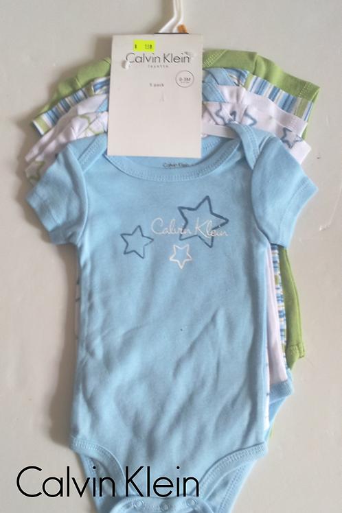 Calvin Klein 嬰兒連身衣全套五件(0-3M月)