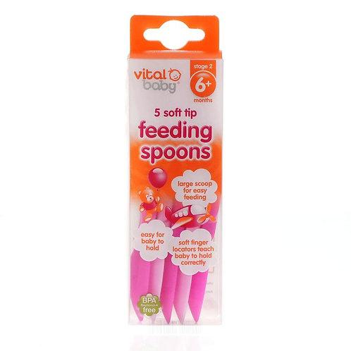 Vital Baby 5 Soft Tip 一盒五隻軟頭餵食湯匙
