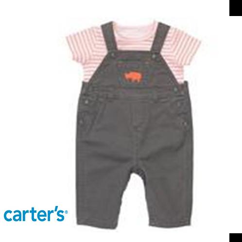 Carter's 嬰兒工人褲兩件套裝 (啪鈕式換片設計)