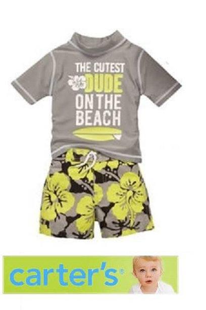 Carter's 幼兒全套兩件泳衣