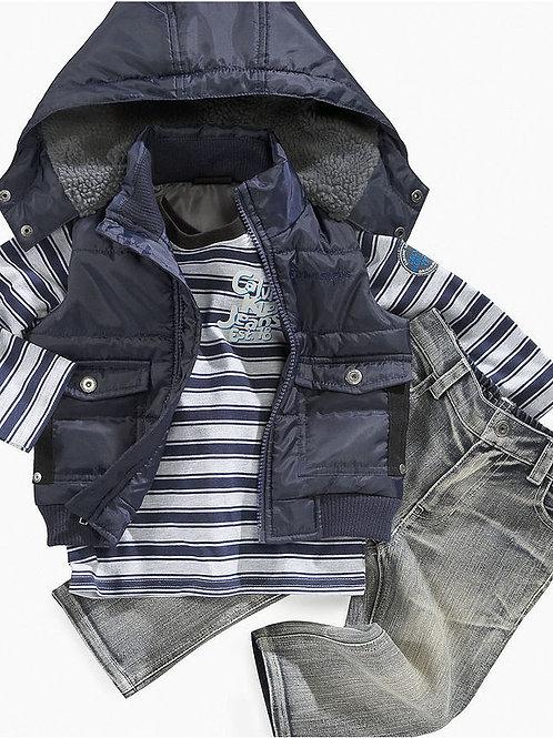 Calvin Klein 幼兒三件套裝(2T/3T/4T歲)
