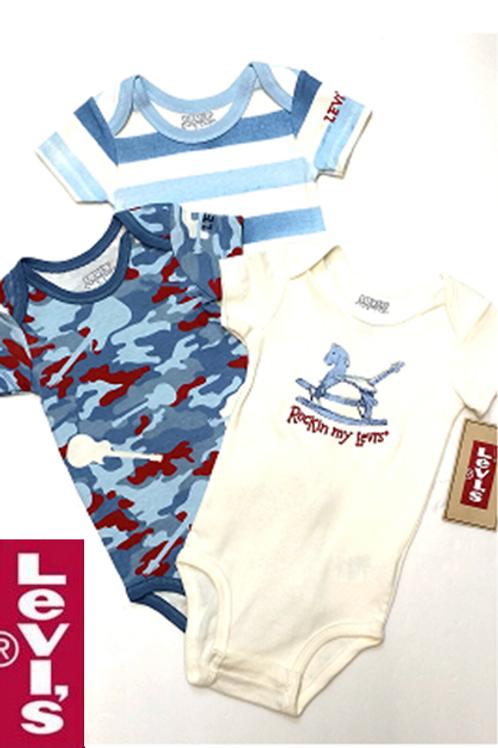 Levis 嬰兒連身衣全套三件