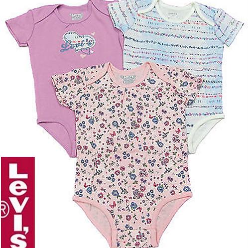 Levis 嬰兒連身衣全套三件(12M月)