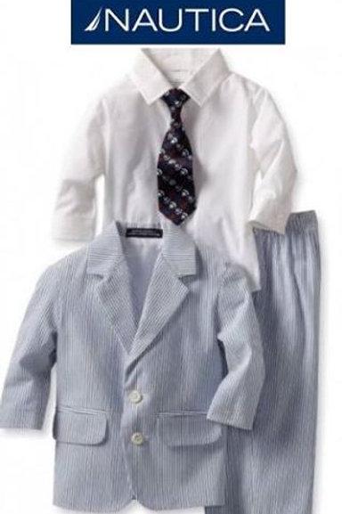 Nautica 兒童西裝4件套裝(3T/4T歲)
