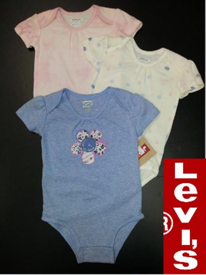 Levi's  嬰兒連身衣全套3件(12M月)