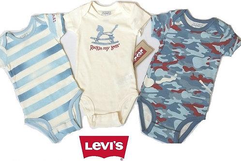 Levi's  嬰兒連身衣全套3件(6M月)