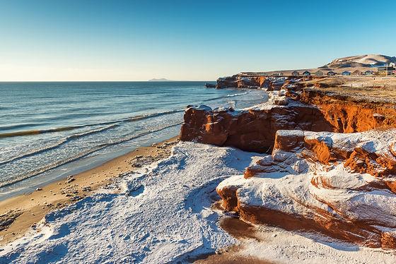 Stunning view of Dune du Sud red cliffs