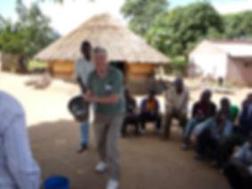 Peter Edmondson training farmers in Mozambique
