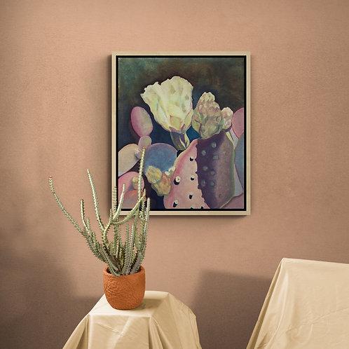 Pink & Purple Cactus with Flower