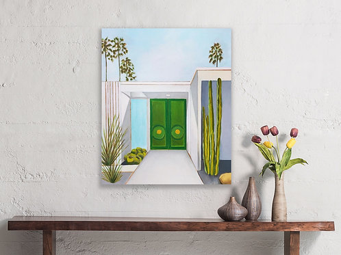 Palm Springs Green Doors