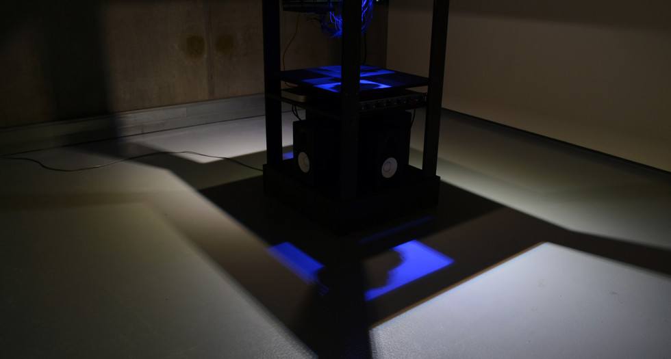 The installation of the haptic sculptures