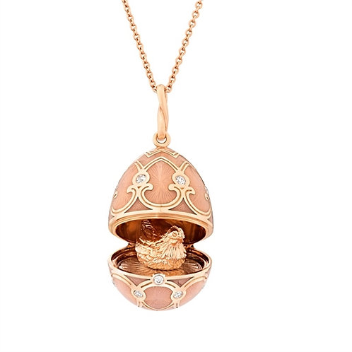 PALAIS TSARSKOYE SELO LOCKET WITH HEN SURPRISE