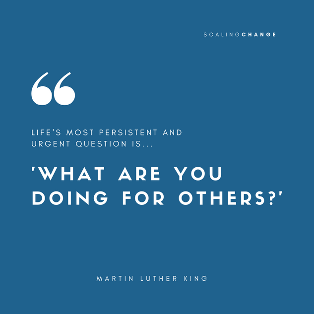 Martin Luther King - Scaling Change