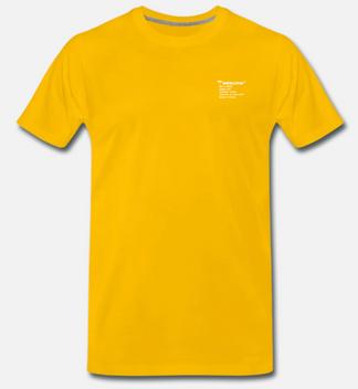 eelsucker basic shirt letter yellow