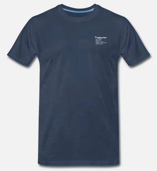 eelsucker basic shirt letter blue