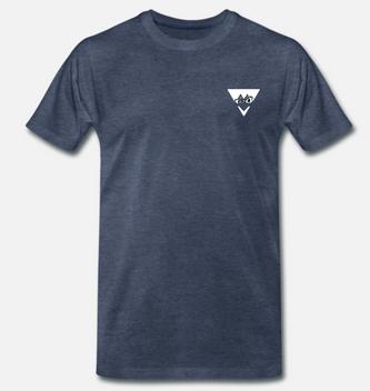 eelsucker hacked off shirt blue