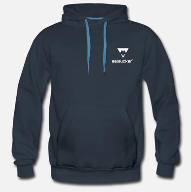 eelsucker basic hoody blue