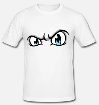 eelsucker hacked off white eyes t-shirt