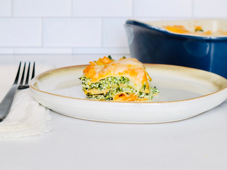 Baked Butternut Squash and Spinach Lasagna