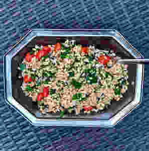 quick and simple farro with vegetables